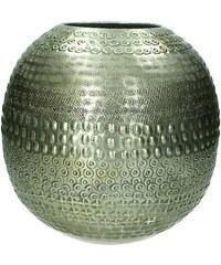 KERSTEN - Váza etnik.,hliníková, tm.stříbrná 25x25x25cm(LEV-3602)