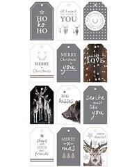Bastion collections - Vánoční dárkové kartičky Winter 2015 (5,5x9cm)12x12ks (BC-GIFTTAGS-WIN-15)