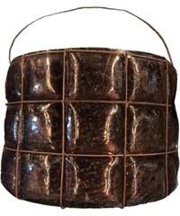 Bastion collections - Svícen M hnědý s drátem, 12x15cm (RE-TE220-M)
