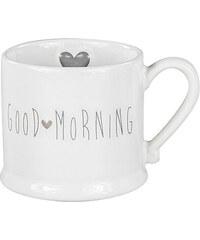 """Bastion collections - Hrnek """"Good Morning"""" bílá/šedá 200ml (RJ-MUG-WH-GOOD-MOR)"""