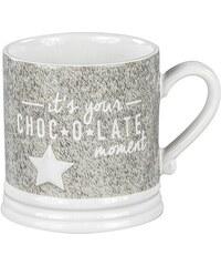 "Bastion collections - Hrnek L ""it's your Chocolate moment"" šedá/bílá (RJ-MUG-L-ITS-CHOCO)"