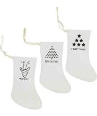Bastion collections - Set 3ks papírových ponožek - ván.ozdoba, 19,5x15cm (cena za ks) (ED-1017314)