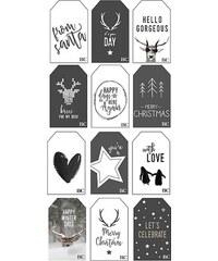 Bastion collections - Vánoční dárkové kartičky Winter 2016 (5,5x9cm)12x12ks (BC-GIFTTAGS-WIN-16)