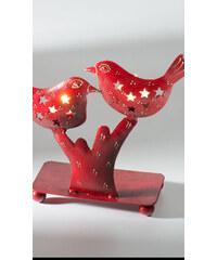 Namaste červený svícen na 2 čajové svíčky