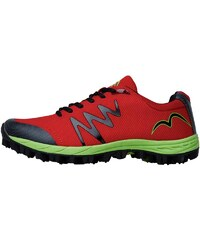 More Mile Mens Cheviot 3 Trail Running Shoe Bright Red/Lime./Black