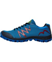 More Mile Mens Cheviot 3 Trail Running Shoe Blue/Black/Red