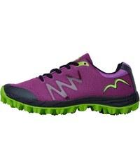 More Mile Womens Cheviot 3 Trail Running Shoe Purple/Black/Lime