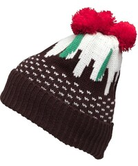 7X Pudding Bobble Hat Brown