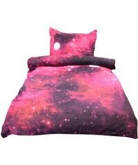 NOVIA Povlečení Exklusiv, Vesmírná mlhovina s 3D efektem, bavlna, 2 dílné, 140x200 70x90