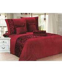 NOVIA Luxusní povlečení se saténem, bavlna, 6 dílné, červená, 140x200 70x90 40x40