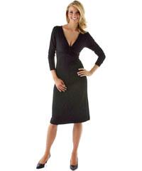 Vivance Collection 006 Dámské černé šaty klasické c9c7aec6b8