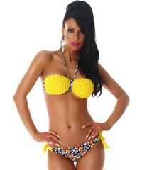 NoName 000 Dámské dvoudílné plavky- bikiny žluté s kytičkami ef2f60c49a