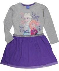 E plus M Dívčí šaty Frozen - šedo-fialové