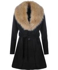 Kabát Golddigga Fur Collared dám. černá
