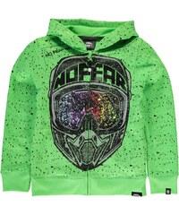 Mikina s kapucí No Fear dět. zelená