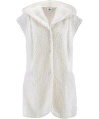 bpc bonprix collection Gilet sans manches en polaire peluche avec capuche blanc femme - bonprix
