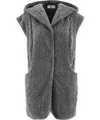 bpc bonprix collection Gilet sans manches en polaire peluche avec capuche gris femme - bonprix