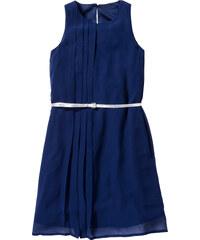bpc bonprix collection Robe en chiffon avec ceinture bleu sans manches enfant - bonprix