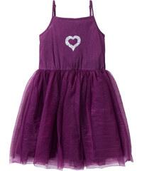 bpc bonprix collection Robe en tulle avec paillettes violet sans manches enfant - bonprix
