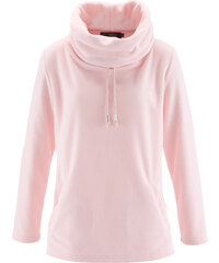 bpc selection Fleece-Pullover langarm in rosa für Damen von bonprix