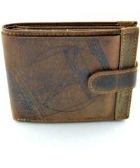 Kožená peněženka Lagen (Davinci) - hnědá