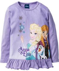 Disney Volantshirt FROZEN, Gr. 80/86-128/134 langarm in lila für Mädchen von bonprix