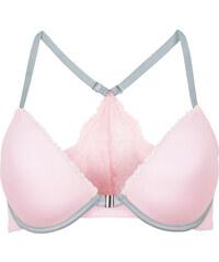 RAINBOW Vorderverschluss-Schalen-BH, Cup A mit Bügel in rosa von bonprix