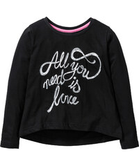 bpc bonprix collection Shirt mit Pailletten langarm in schwarz für Mädchen von bonprix