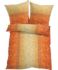 bpc living Bettwäsche Fiona, Linon in orange von bonprix