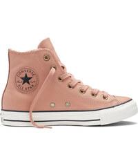 Converse pudrové kožené dámské boty s kožíškem Winter Knit