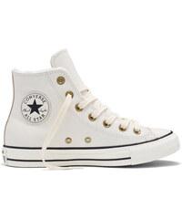 Converse smetanové kožené dámské boty s kožíškem Winter Knit
