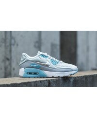 Nike Air Max 90 (GS) Ultra SE Pure Platinum/ Metallic Silver-Wolf Grey-Blue