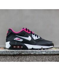 Nike Air Max 90 Mesh (GS) Black/ White-Vivid Pink