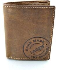 Kožená peněženka s ražbou Lagen - hnědá