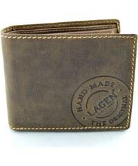 Kožená peněženka s ražbou Lagen - tmavě hnědá