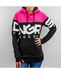 Dangerous DNGRS Big Logo Hoody Jet Black/Rouge Red