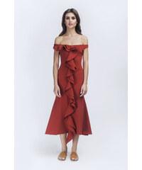 Charina Sarte Robe Bordeaux Sans Manches - Celia