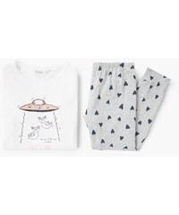 Mango Kids - Dětské pyžamo Space 104-164 cm