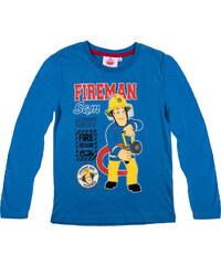 Feuerwehrmann Sam Langarmshirt blau in Größe 98 für Jungen aus 100% Baumwolle