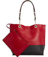 Calvin Klein kabelka Reversible NS novelty tote red black