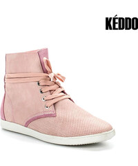 Real_Leather Keddo High-Top-Leder-Sneaker mit Lochmuster - 37