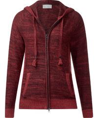 Cecil - Cardigan chiné à capuche - maroon red