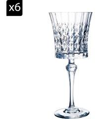 Cristal d'Arques Lady Diamond - Lot de 6 verres à vin 19cl - transparent