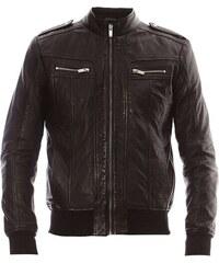 Blue Wellford Tobol - Veste en cuir - noir