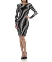 Maya Zanotti Kleid mit hautengem Schnitt - zweifarbig
