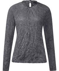 Street One - T-shirt froissé Jackie - pride grey