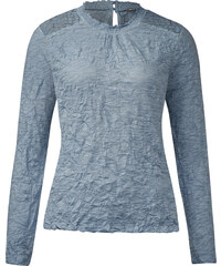 Street One - T-shirt froissé Jackie - sterling blue
