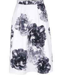 Černo-krémová květovaná midi sukně Dorothy Perkins