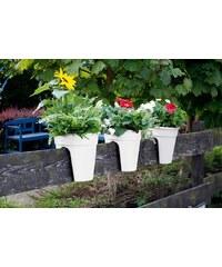 KHW Set: Pflanztopf »Flowerclip«, 3 Stk., weiß