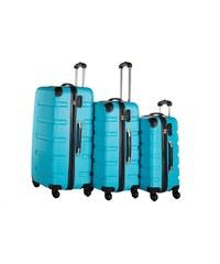 Packenger Hartschalentrolley Set mit 4 Rollen, »Marina« (3tlg.)